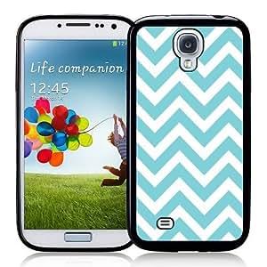 Cool Painting Galaxy S4 Case - S IV Case - ;Chevron Aqua Samsung Galaxy i9500 Case Snap On Case