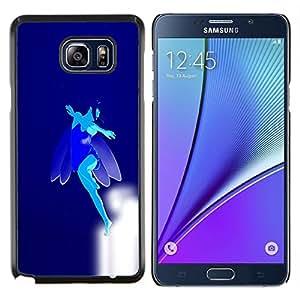 "Be-Star Único Patrón Plástico Duro Fundas Cover Cubre Hard Case Cover Para Samsung Galaxy Note5 / N920 ( Flying Blue Fairy"" )"
