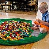 BESTOMZ 60 Inch Toy Storage Bag Organizer Kids Play Mat Toy Quick Pouch (Green)
