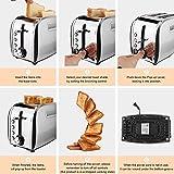 "Toaster 2 Slice Wide Slot 1.5"", JEWJIO Retro Bagel"