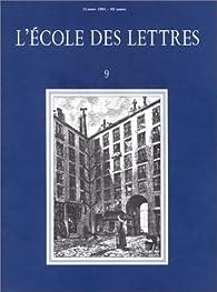 L'école des lettres, numéro 9 : Zola, l'assomoir par Revue L'École des lettres