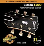 Best Gibson Acoustic Guitar Strings - Gibson Gear SAG-J200UL Phosphor Bronze Acoustic Guitar Strings Review