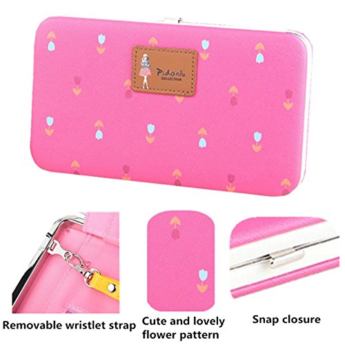 X Plus for Plus Hard Green Phone Case for Flowers Clutch Large Ladies Leather Wristlet Long Pattern 7 Purse Wallet 7 iPhone 8 8 qOFtwcxH