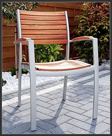 Lynx Scancom silla apilable de madera, aluminio, madera exótica ...