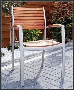 Lynx Scancom silla apilable de madera, aluminio, madera exótica, FSC: Amazon.es: Hogar