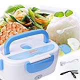 Electric Heating Lunch Box - Toursion Portable Food Heater Car and Home Dual Use with Removable Stainless Steel 304 Container & PP Removable Container Food Grade Material 110V&12V