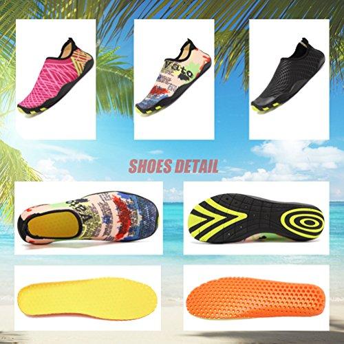 LoZoDo Men Women Barefoot Quick-Dry Water Aqua Shoes Skin Flexible Socks For Swim, Walking, Yoga, Lake, Beach, Park, Garden, Driving, Boating Yellow