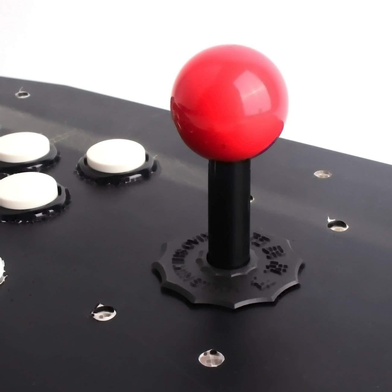 Elviray Dise/ño ergon/ómico Doble Arcade Stick Videojuego Controlador de Joystick Gamepad para PC con Windows Disfrute del Juego Divertido