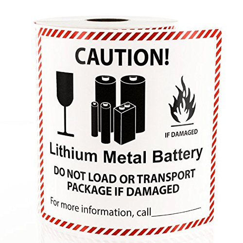 Lithium Metal Battery Handling Labels - Shipping Labels Hazardous