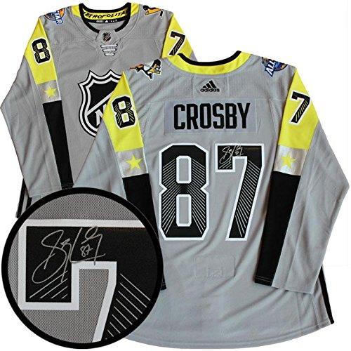 wholesale dealer 1173c b0872 Sidney Crosby Signed Jersey All-Star Pro Grey 2017-2018 ...