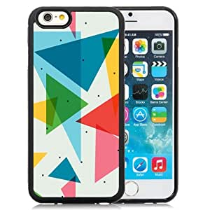 New Personalized Custom Designed For iPhone 6 4.7 Inch TPU Phone Case For Colorful Triangles Pattern Phone Case Cover