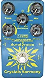 Aural Dream Crystals Harmony Guitar Digital Pedal with 4 Modes harmony and shifting simetones or Octave for creating crystal particles effects,True Bypass
