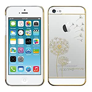 kwmobile Elegant and light weight Crystal Case Design I love freedom for Apple iPhone SE / 5 / 5S in gold transparent
