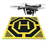 XL Drone and Quadcopter Landing Pad 22-inch by 22-inch - Highly Visible Design, Protect Your Investment With a Soft Landing Surface Made of Eco-Friendly Rubber and Waterproof Cloth