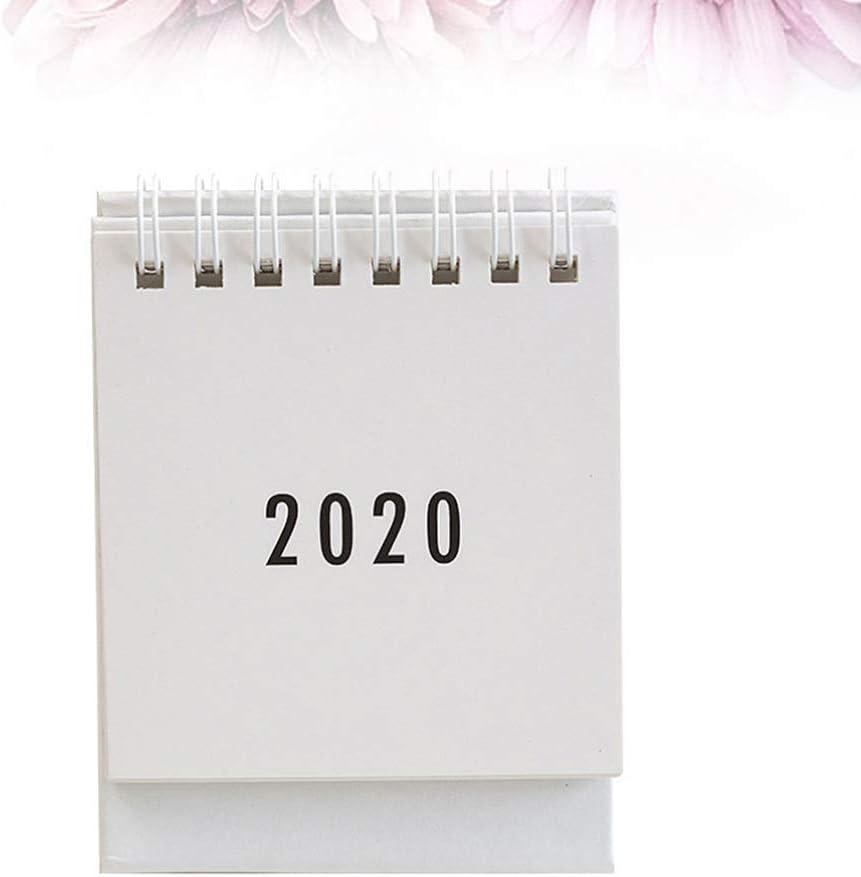 STOBOK Calendrier de bureau 2020-2021 Calendrier de travail annuel avec agenda de bureau annuel Calendrier de chevalet noir
