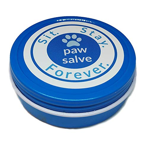 (SIT. STAY. FOREVER. SAFETY FIRST PET PRODUCTS Organic Paw Salve for Dogs & Cats, Healing & Protection Bees Wax Balm for Cracked, Dried, Injured Feet and Noses 2oz Made in USA)