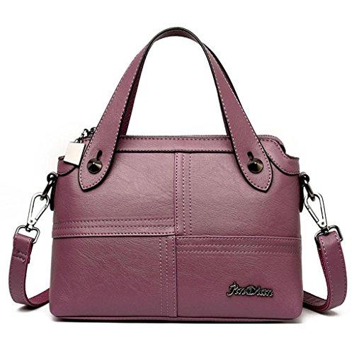 dei modo purple tracolla colore della Borsa Grande delle borsa borsa della NVBAO Multi Manuale purple di Turismo Shopping donne a cucire tracolla colori capacità semplice a YSZwxpvq