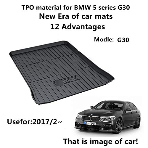 AUNAZZ/Trunk Mat Cover For BMW 5 Series G30 2017/2-2018 Years Rubber Rear Trunk Cargo Liner Trunk Tray Floor Mat Cover 1 - Liner Boot Rubber