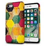 iPhone 8 Case / iPhone 7 Case, TORU [iPhone 8 Pattern Case Wood] Dual Layer Designer Design Fashion Cover for iPhone 8 (2017) / iPhone 7 (2016) - Wood Geo