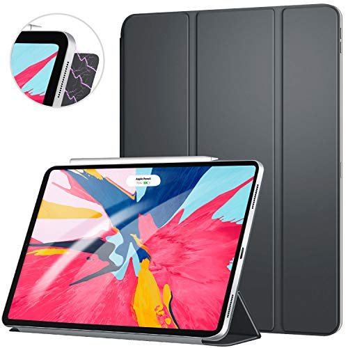 Ztotop iPad Pro 11 ケース 極薄 3つ折りスタンド 磁気吸着式 オートスリープ機能 傷つけ防止 手帳型 2018秋発売のiPad Pro 11に対応 スマートカバー(ダークグレー)