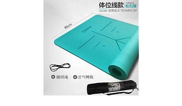 YOOMAT - Alfombrilla de yoga para iniciación de yoga, gruesa ...