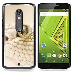 White Snake Macro Caja protectora de pl??stico duro Dise?¡Àado King Case For Motorola Verizon DROID MAXX 2 / Moto X Play