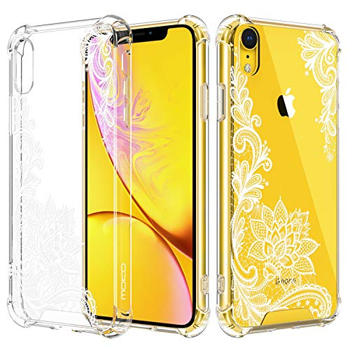 MoKo Compatible with iPhone XR Case, Crystal Clear Reinforced Corners TPU Bumper + Anti-Scratch Hybrid Rugged Transparent Hard Panel Cover Fit with Apple iPhone XR 6.1 inch 2018 - Crystal ()