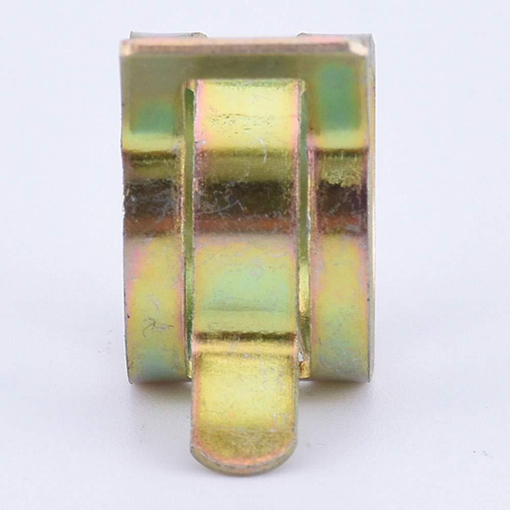Turspit 6mm Fuel Line Hose Clips,Spring Clip Fuel Oil Line Silicone Vacuum Hose Clamp Fastener 100pcs