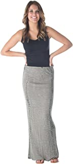 product image for Hard Tail Fitted Long Maxi Skirt in (Beige & Olive tie dye) DUO-04