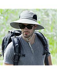 Outdoor Men's Wide Brim Sun Hats,Fishermans Bucket Mesh Hat for Fishing Camping Hunting Hiking Gardening