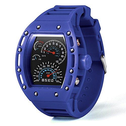 MOKO-PP Fashion Luxur LED Date Watch Sport Quartz Wrist Men Analog Digital Army Military(Blue) - Military Analog Quartz Timepiece