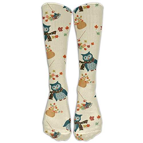Casual Cute Owl Unisex Knee High Socks Athletic Sport Socks
