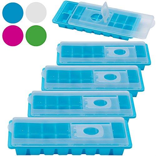 5x Eiswürfelform Eiswürfelbereiter Eiswürfelbehälter Eisform Eiswürfelschale Deckel