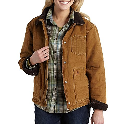 Carhartt Women's Sandstone Newhope Jacket, Brown,Medium (Sandstone Jacket Duck Carhartt)