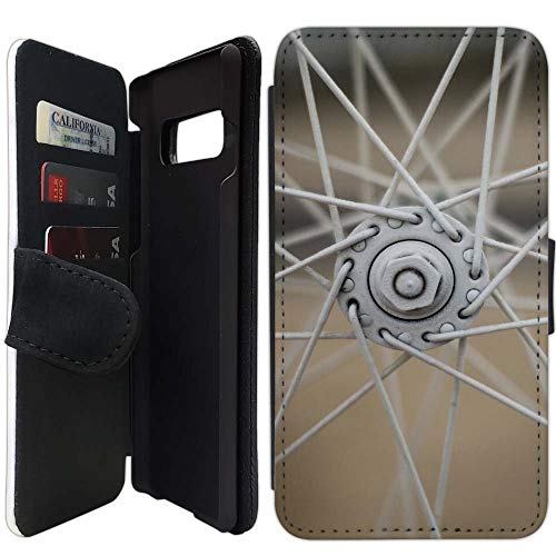 (Flip Wallet Case Compatible with Galaxy S10 Plus (6.4 inch) (Bike Wheel Spokes) with Adjustable Stand and 3 Card Holders | Shock Protection | Lightweight | Includes Free Stylus Pen)