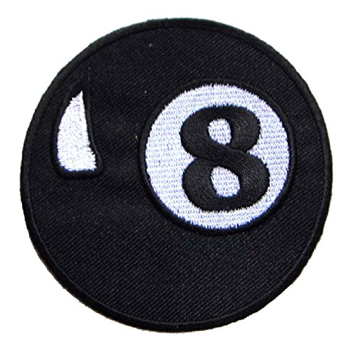 8-Eight-Ball-Billiards-Pool-Embroidered-Iron-on-Patch-Free-Shipping