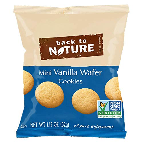 (Back to Nature Non-GMO Mini Vanilla Wafer Cookies, 1.12 Ounce, 6 Count (Pack of 4))