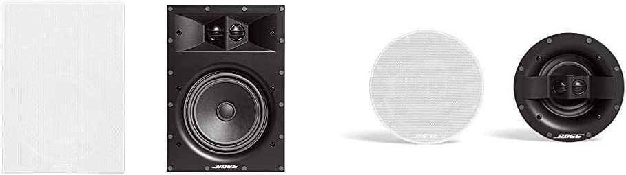 Bose Virtually Invisible 891 in-Wall Speaker (Pair) - White & Virtually Invisible 591 in-Ceiling Speaker - White