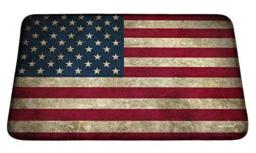 Meffort Inc Printed Soft Floor Door Mat Carpet/Area Entry Rugs for Kitchen Dining Living Hallway Bathroom - USA Flag
