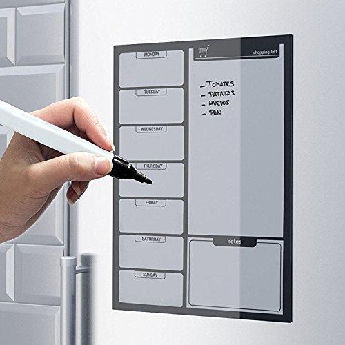 Amazon.de: Top Home Solutions – Schwarze magnetische Einkaufsliste ...