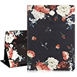 Hepix Floral iPad 9.7 Case 2018 2017 Peony Flowers iPad Air 2 Cases PU Leather Lightweight Protective iPad Air Case, Multi-Angle Stand with Auto Sleep/Wake