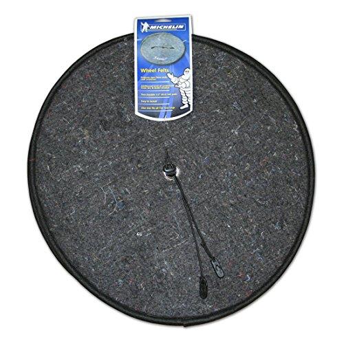 MICHELIN 00034 Grey/Black Wheel Felts, 4-Pack
