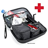 Emergency Survival Gear Kit Case - Fits Portable Flashlights , Water , Solar Blankets , Band-Aids , Pocket Knives and More by USA Gear - Perfect for Natural Disasters , Earthquakes and First Aid Kits