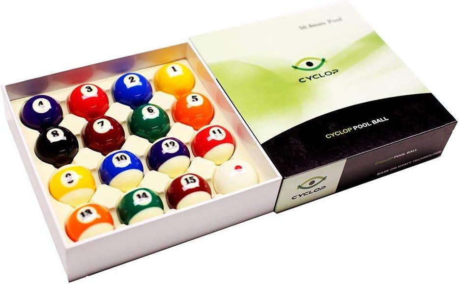 Cyclop Juego Bolas Pool English Standard Ball Set 50. 80mm: Amazon.es: Deportes y aire libre