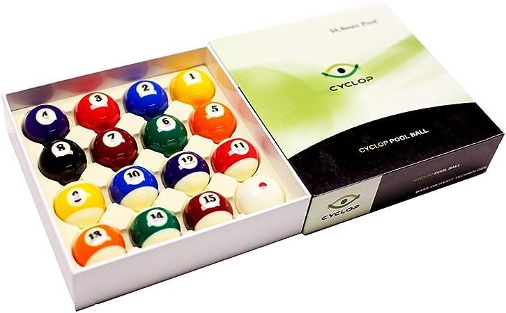 Cyclop Juego Bolas Pool English Standard Ball Set 50. 80mm: Amazon ...