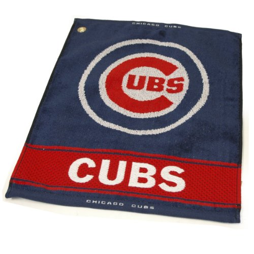 MLB Chicago Cubs Jacquard Woven Golf Towel