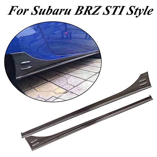 jcsportline fits for Subaru BRZ Toyota 86 2013-2018 Carbon Fiber Side Skirts Extension Rocker ()