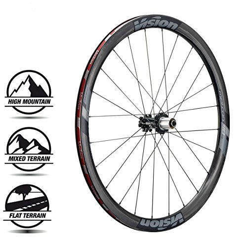 Vision Metron 40 SL DB 700C Clincher QR/TA Old: F: 100 R: 135 Brake: Disc Pair 9/10/11SPD Wheel, 29