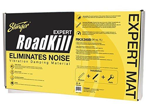 Stinger RKX36B Roadkill Expert Series Sound Damping Material Bulk Pack (Silver) by Stinger