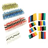 100PCS Solder Seal Wire Connector + 328PCS Heat Shrink Tubing Set, Heat Shrink Butt Terminals Waterproof Automotive Copper Connectors,2:1 Wire Cable Wrap Assortment Tube